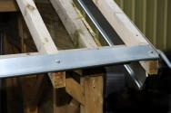 Bande à ourlet aluminium gris - 2 mètres