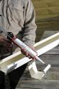 Jonction gouttière aluminium sable