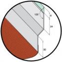 Solin mastic prélaqué couleur ardoise bavette plomb - 2M