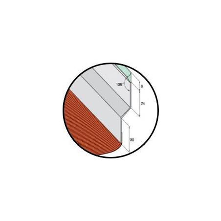 Solin mastic prélaqué bavette aluminium rouge tuile - 2M