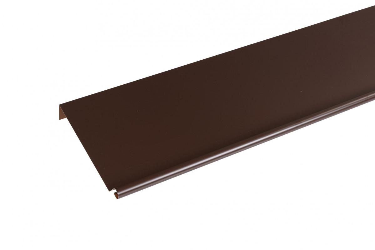 bande de rive biseau aluminium brun 2ml brico toiture. Black Bedroom Furniture Sets. Home Design Ideas