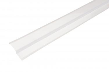 Solin biseau aluminium blanc - 2M