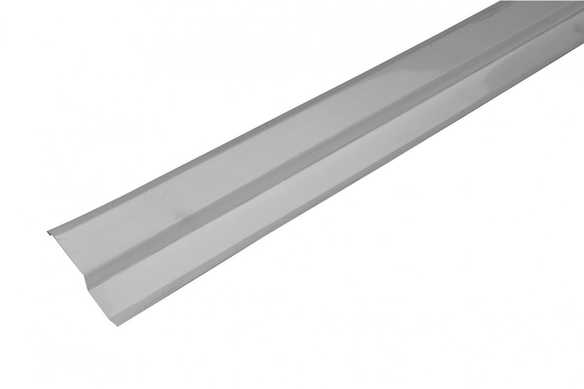 Solin biseau aluminium gris - 2M
