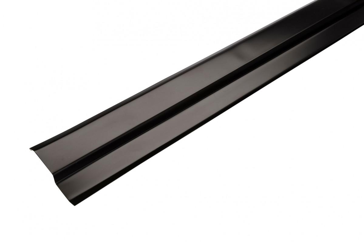 Solin biseau aluminium noir - 2M