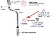 Tuyau de descente STEEL acier galva D80mm - 2 mètres