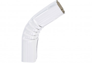 Coude frontal (B) extérieur aluminium blanc