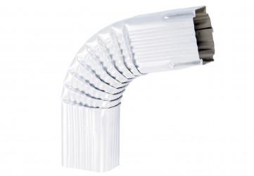 Coude latéral (B) extérieur aluminium blanc