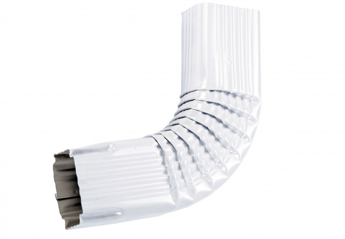 Coude latéral (A) intérieur aluminium blanc