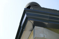 Angle extérieur 90 ° aluminium sable