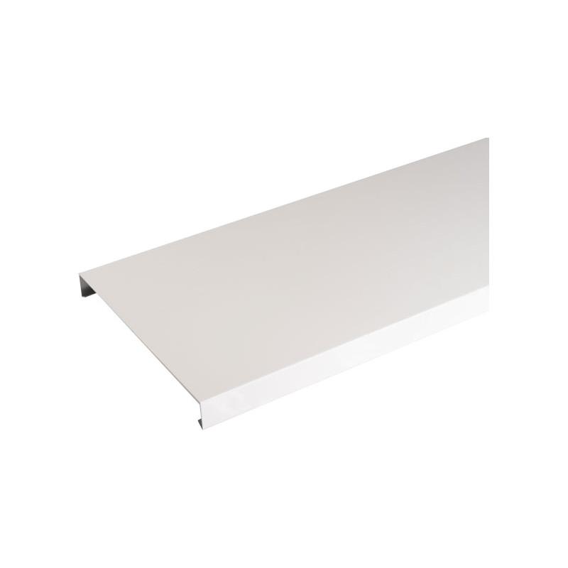 Couvertine aluminium blanc 2 mètres