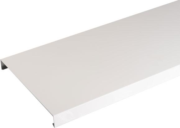 Couvertine Aluminium Blanc 2m Brico Toiture