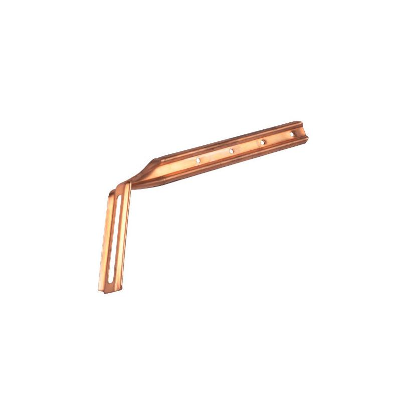 Hampe chantournée cuivre 335 mm