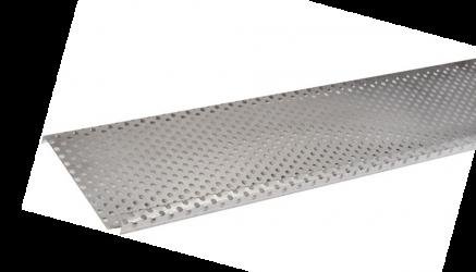 pare-feuille aluminium 1 mm pour Gouttière demi-ronde 25/80 2 mètres