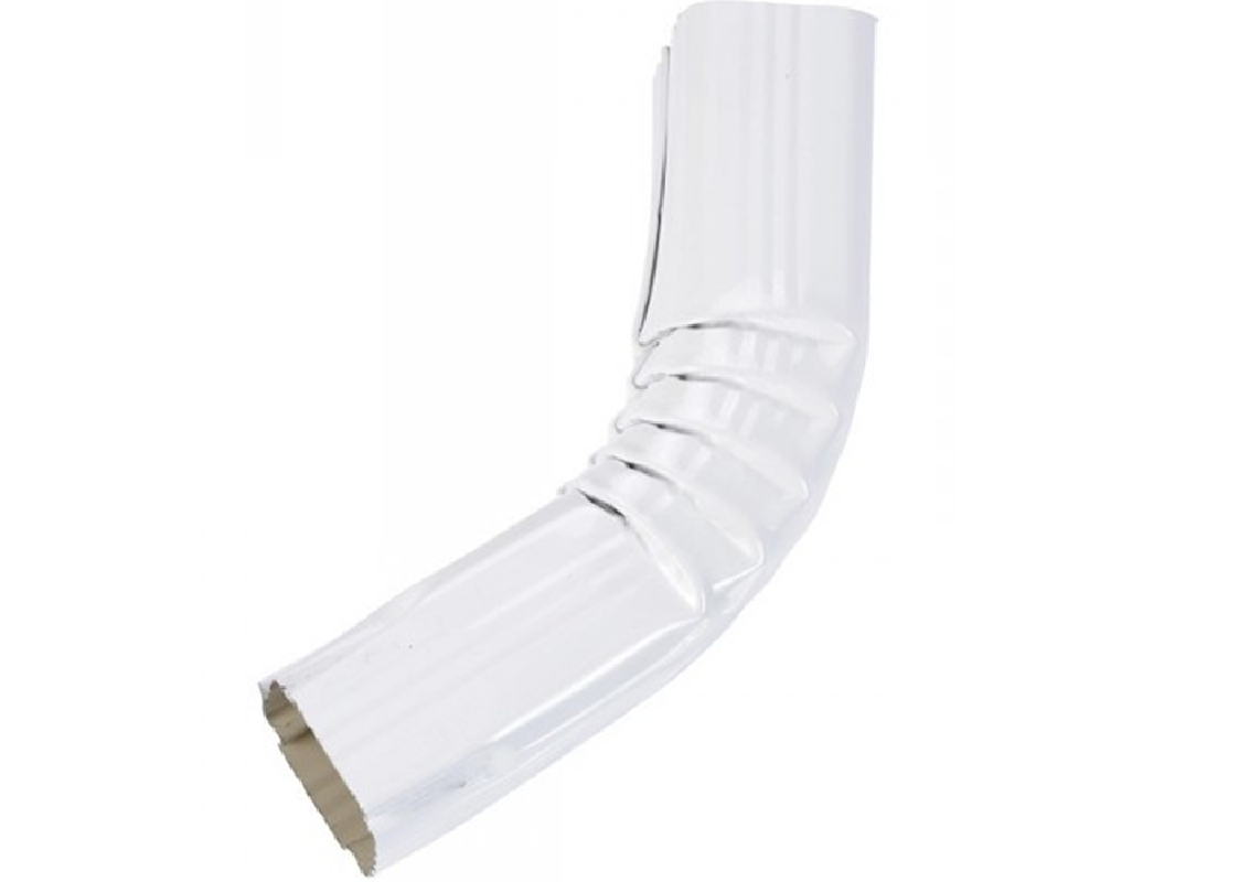 Coude frontal (A) intérieur aluminium blanc
