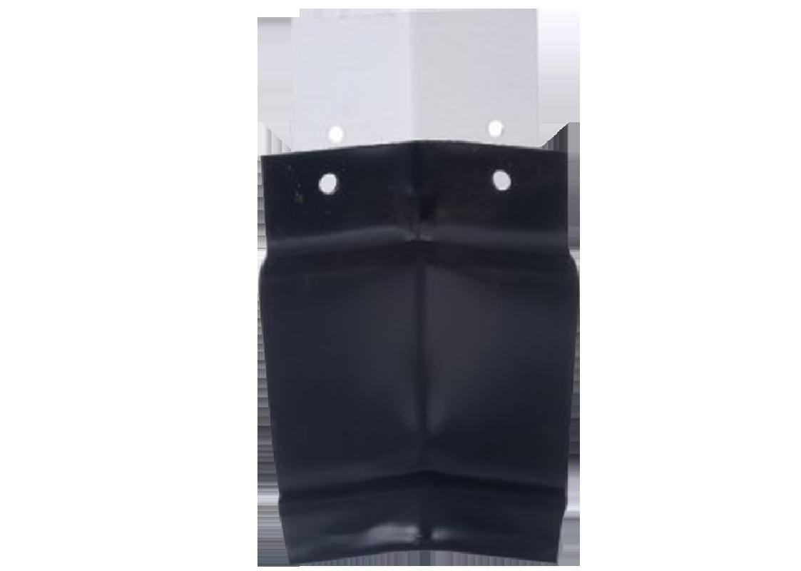 Angle intérieur 90° gouttière aluminium noir G300