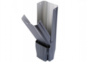 Récupérateur eau clapet aluminium Gris ardoise