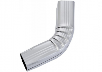 Coude frontal (A) intérieur aluminium gris métal 60X80