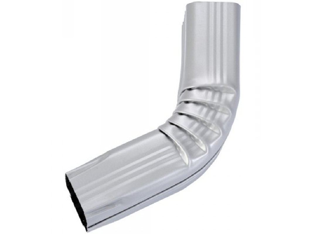 Coude frontal (A) intérieur aluminium gris métal