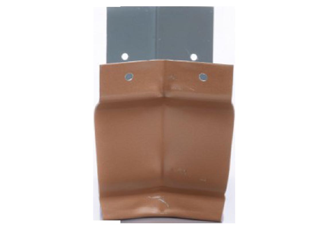 Angle intérieur 135° gouttière aluminium miel G300
