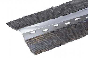 Closoir ventilé bavette plomb brut - 140 mm - 2 mètres