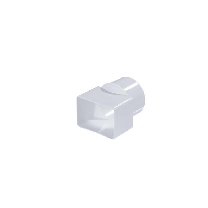 Adaptateur Cylindrique blanc PVC diam 80