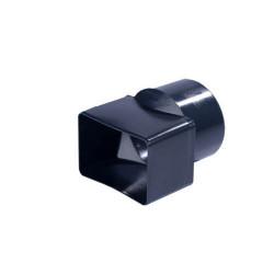 Adaptateur Cylindrique gris ardoise PVC diam 80