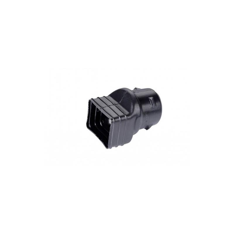 Adaptateur Cylindrique noir PVC diam 100
