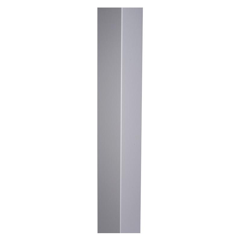 Cornière 90 ° Aluminium Gris métal - 2ML