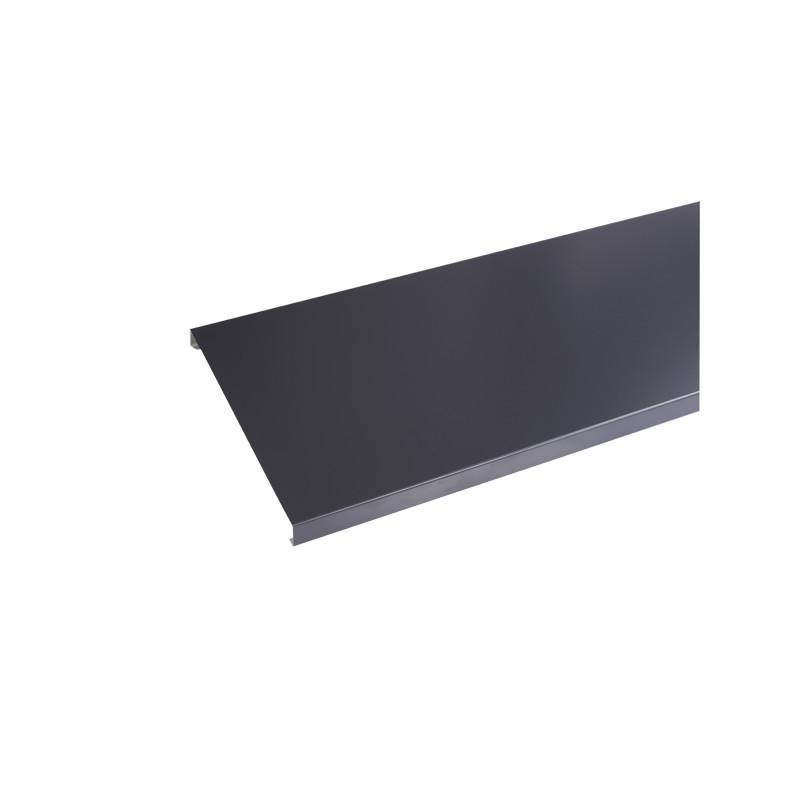 Couvertine aluminium 1 mm Gris Ardoise RAL 7016 - 2 mètres