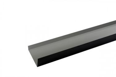 Cheneau ( couloir) Aluminium noir 2 mètres