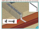 Hampe droite acier galva 335 mm