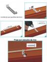 Crochet écarteur invisible pour Gouttière Aluminium G300