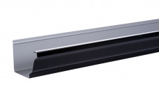 Gouttière aluminium noir  - 3 mètres