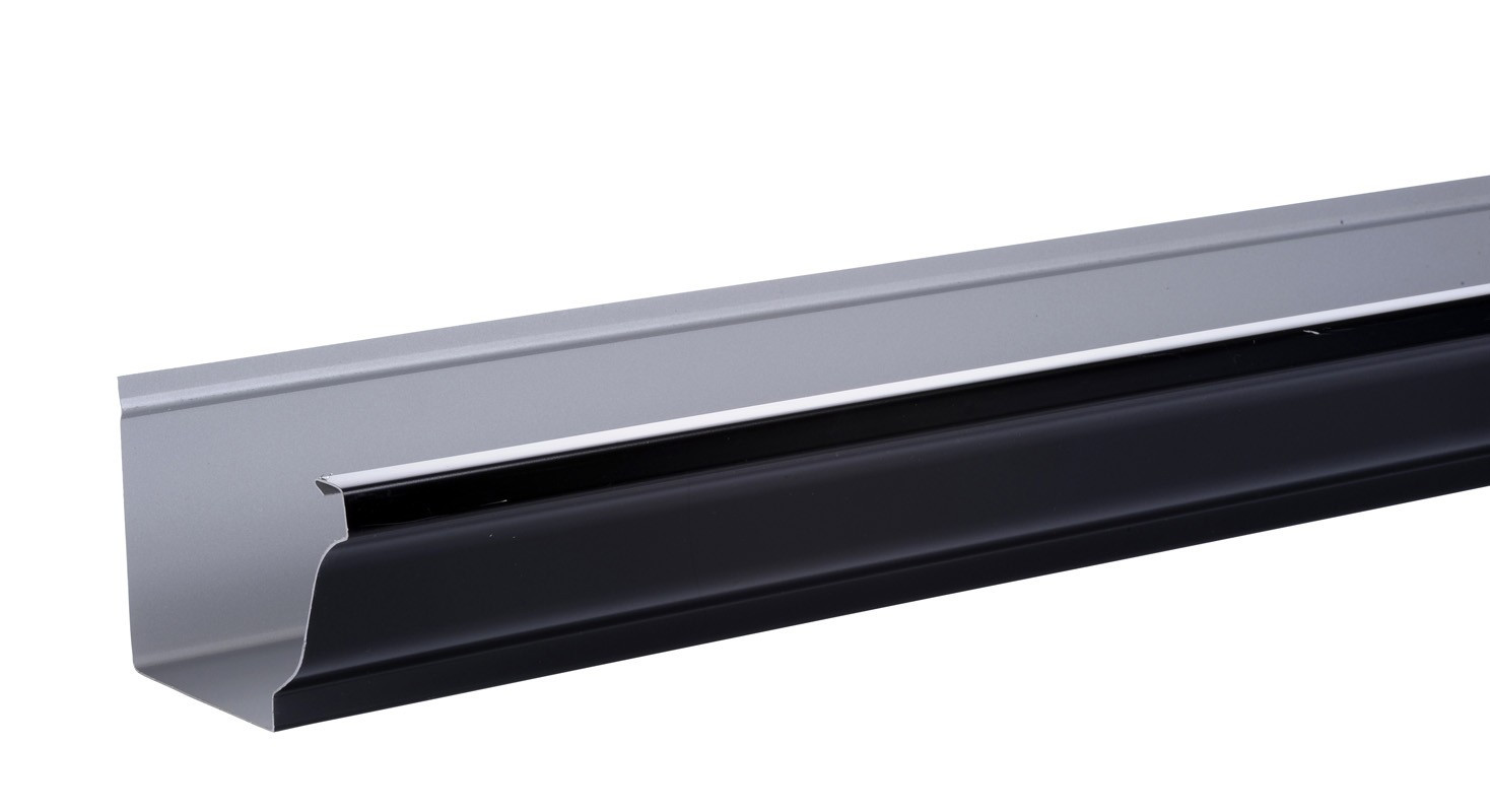 goutti re aluminium noir 3ml brico toiture. Black Bedroom Furniture Sets. Home Design Ideas