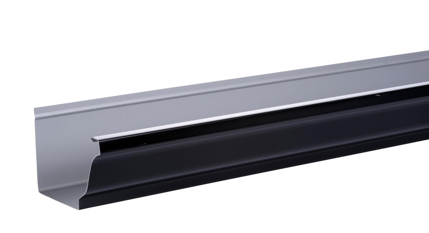 Gouttière Aluminium noir  G300 - 3 mètres