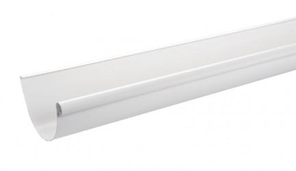 Gouttière Aluminium demi-ronde dev 25 - 3 mètres Blanc