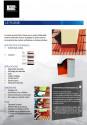 Bande plomb flexible autocollante 5000*300 mm laqué rouge brique RAL 8004