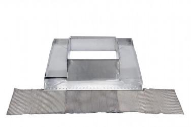 Garniture cheminée réglable zinc
