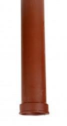 Dauphin fonte droit rouge 100 mm - 1 mètre