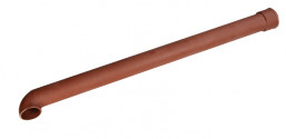 Dauphin fonte coudé rouge 80 mm - 1 mètre