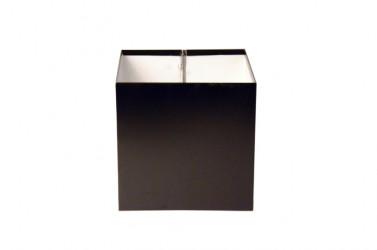 Boîte à eau Aluminium noir 9005 200 X 200  sortie rectangulaire 60 X 80