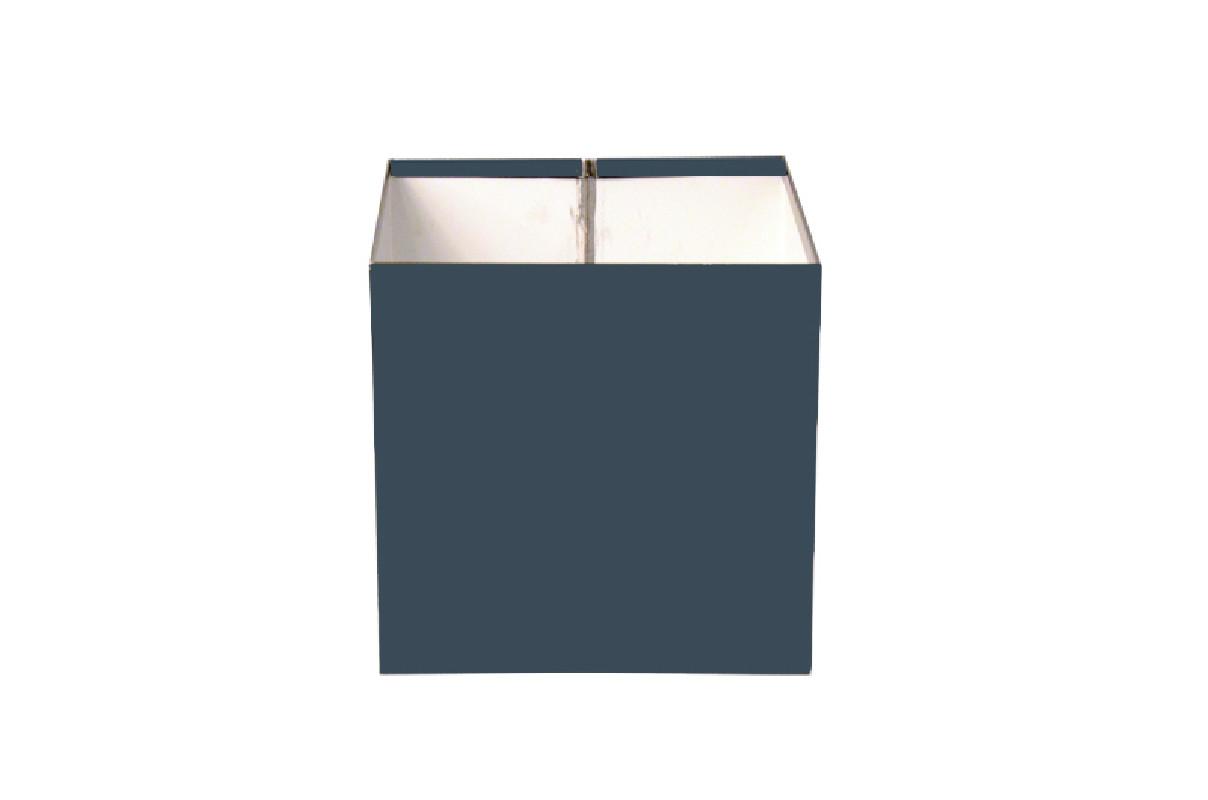 Boîte à eau Aluminium gris ardoise 7016 sortie rectangulaire 60 X 80