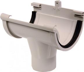 Naissance centrale PVC gris à joint 33