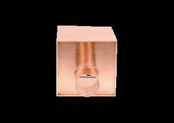 Boîte à eau cuivre 200 X 200  sortie cylindrique 80