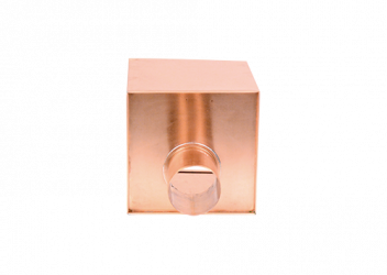 Boîte à eau cuivre 200 X 200  sortie cylindrique D80