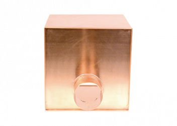 Boîte à eau cuivre 300 X 300 sortie 100