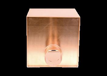 Boîte à eau cuivre 300 X 300 sortie cylindrique 100