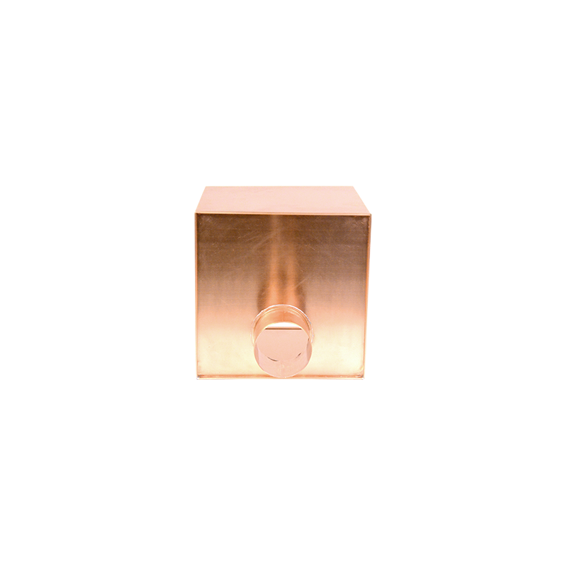 Boîte à eau cuivre 300 X 300 sortie cylindrique D100