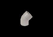 Coude 45° M/F PVC gris 80