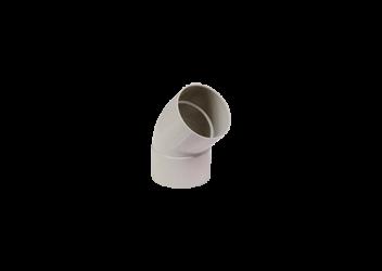 Coude 45° F/F PVC gris 80